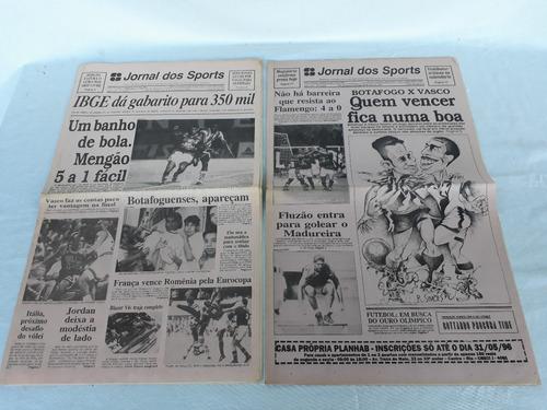 jornal dos sports flamengo lote 5 unidades 1996