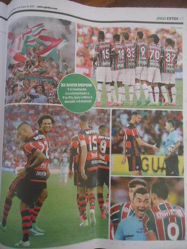 jornal extra flamengo campeão carioca 2017  1º jogo da final
