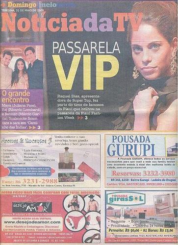 jornal noticia: raquel dias / giovanna tominaga / britto jr