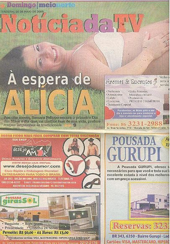 jornal noticia: samara felippo / álvaro garneiro / leite
