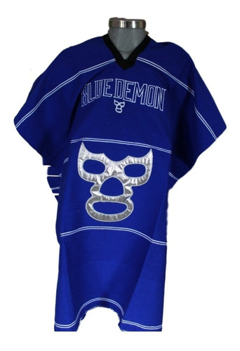 jorongo mexicano blue demon luchador artesanal