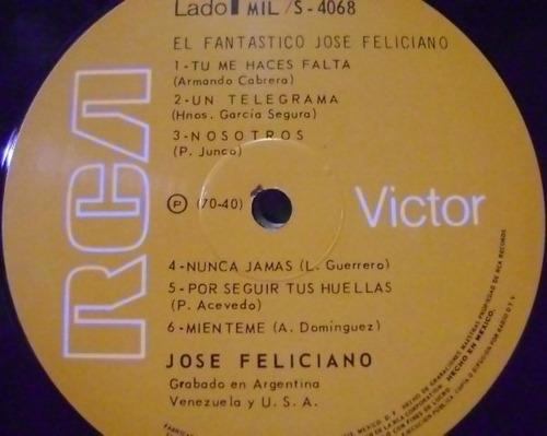 jose feliciano / el fantastico !  1 disco lp vinilo