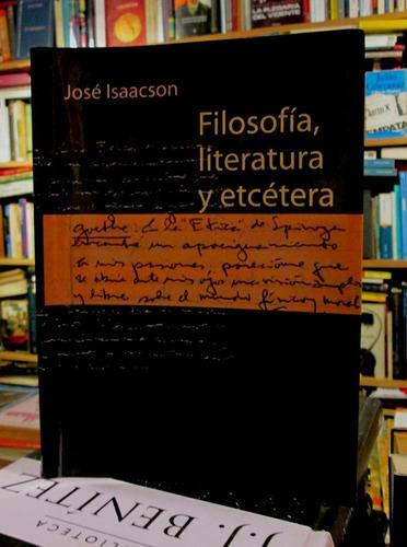 jose isaacson. filosofía, literatura y etcétera.