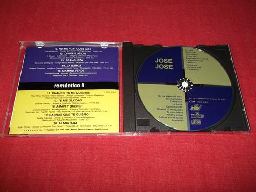 jose jose - romantico 1 y 2 cd nac 2 en 1 ed 1994 mdisk