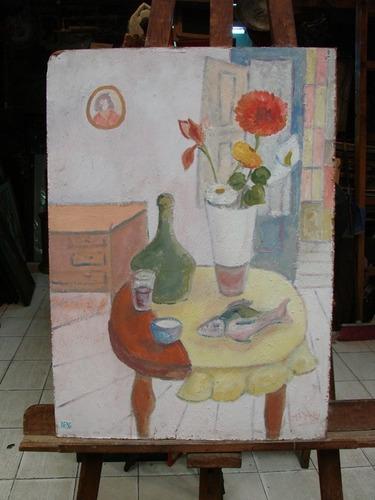 jose luis menghi / naturaleza muerta / oleo / 70 x 50 # 1636