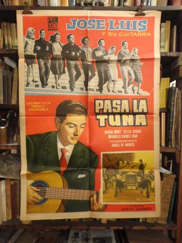 jose luis y su guitarra. afiche cine mexicano original.