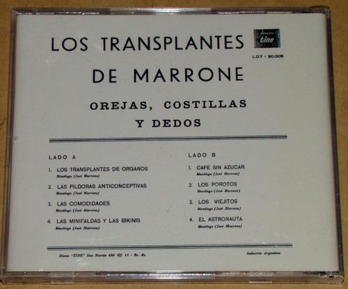jose marrone los transplantes de marrone cd bajado de lp