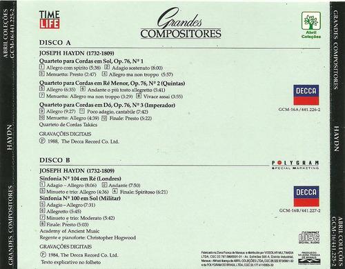 joseph haydn grandes compositores cd duplo