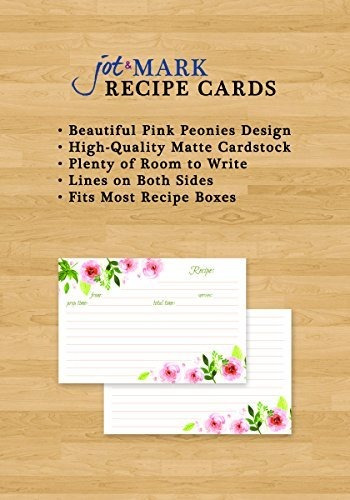 jot y mark recipe cards floral double sided 4x6 50 count pin