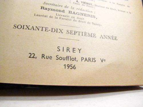 journal des societes. 1956