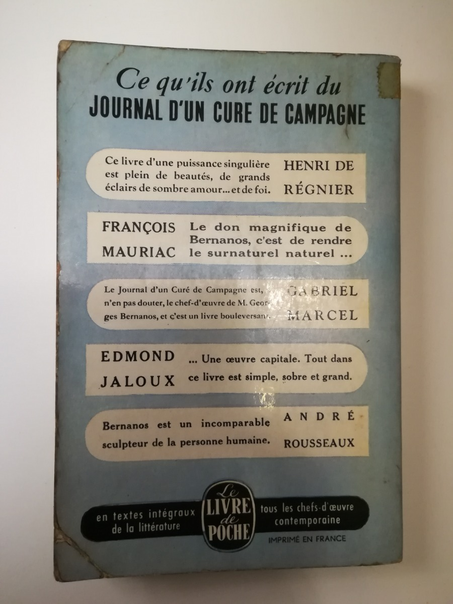 Journal Dun Curé De Campagne Bernanos Muy Buen Estado 17000