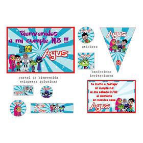 Jovenes Titanes   Kit Cumpleaños Y Candybar Envio Gratis