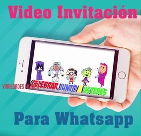 Jovenes Titanes Tarjeta Invitación Digital Vídeo Animado