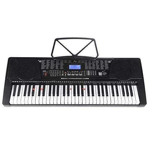 joy 61-key lighted clave teclado teclas piano simulación sta