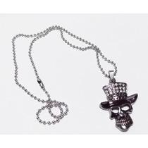 Cadena Collar De Calavera Con Sombrero Skpalace