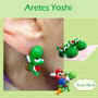Aretes Yoshi Kawaii 3d Super Mario Bros Nintendo Wii Anime