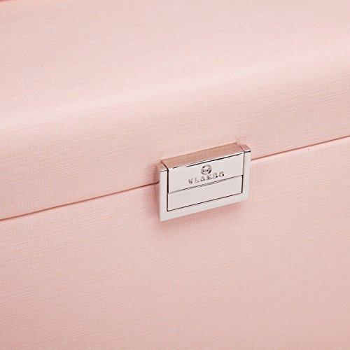 joyas de imitación de cuero vlando caja organizador, vintage