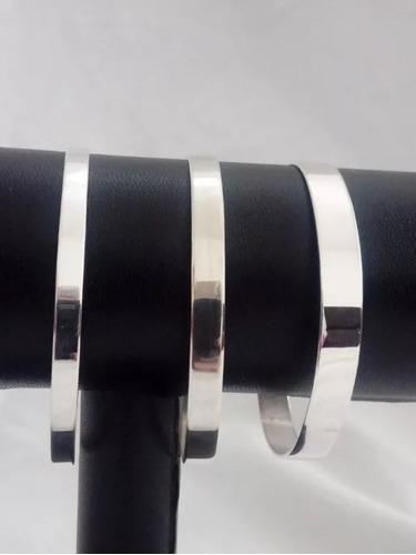 joyas mb-pulsera esclava cinta 3mm plata 900 grabado s/cargo