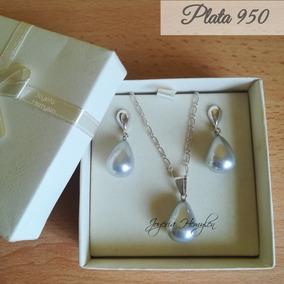 3febdad2e154 Aretes Perla Plata 950 - Joyas en Mercado Libre Perú