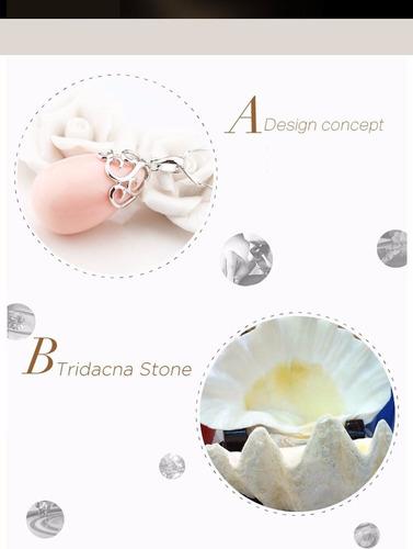 joyas plata 925 y piedra tridacna