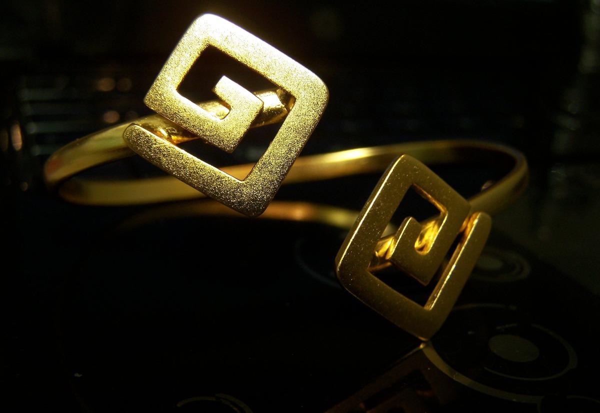 Joyas precolombinas ba o de oro manilla aretes dije 50 - Bano de oro ...