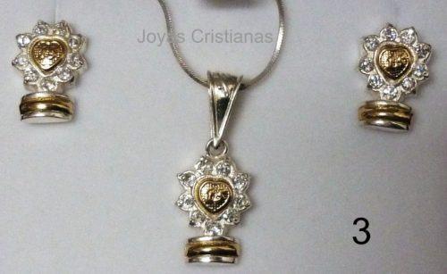 joyas quince 15 años plata 925 oro diamantes grado padre mad