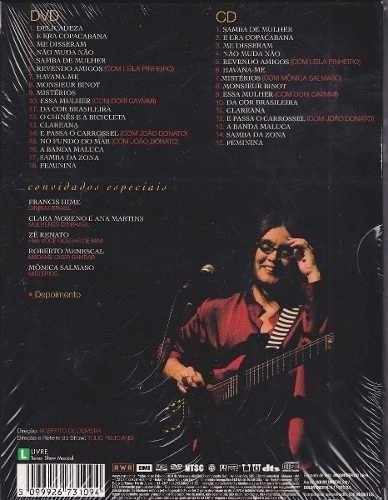 joyce ao vivo dvd + cd show 40 anos com luvas