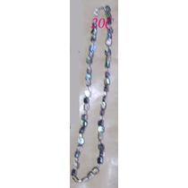 N20c Collar De Avalon De 7x5 Mm Terminado En Plata