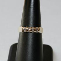 Anillo De Oro 14 K 12 Diamantes 3.40 Gr. - 50 % Descuento!!!