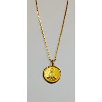Cadena Oro 18 Ktes Medalla Sagrado Corazón Psp Gps
