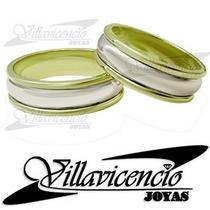Argollas De Oro Blanco 18k Y Oro 18k 15 Gr