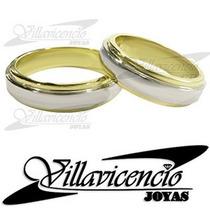 Argollas Oro Blanco 18k Y Oro 18k Cinta Italianas 16.4 Gr