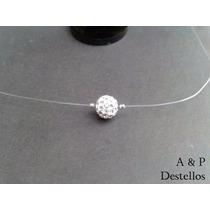 Collar De Plata Con Cristales, Punto De Luz