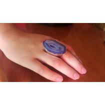 Anillo Cuarzo Azul Y Plata 925 Numero 9