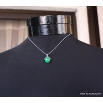 Jade Colgante Cadena Acero