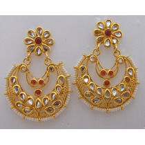 Aros Gold Polaco Kundan Pie, Nuevos, India