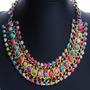 Collar Tejido Con Cuencas De Color