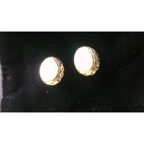 Finos Y Exclusivos Aros De Plata 925 Con Nácar (con Broche)