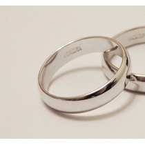 Argolla (anillo) De Compromiso, Enchape En Oro Blanco 18 K