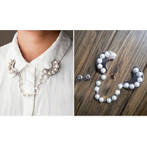 Colgante Broche Blusa Perlas
