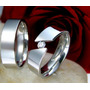 Aros De Bodas Fabricados En Plata Con Un Circon De 5mm