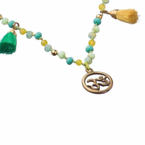 joyería budista tibetana collar pulsera dije om bronce yoga