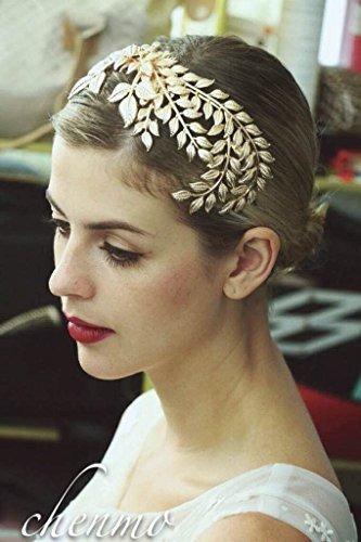 joyería de pelo de la boda de la corona del pelo de la hoja