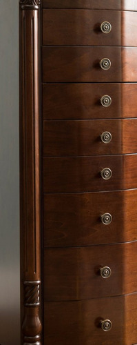 joyero gabinete organizador mueble madera 8 cajones grande