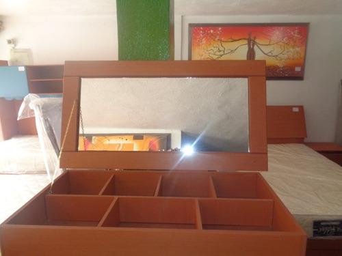 joyero gavetero de 5 con espejo en mdf