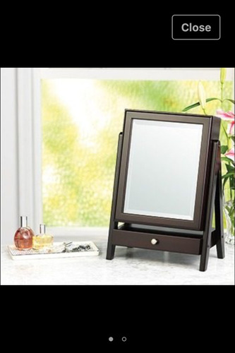 joyero madera con espejo nuevo