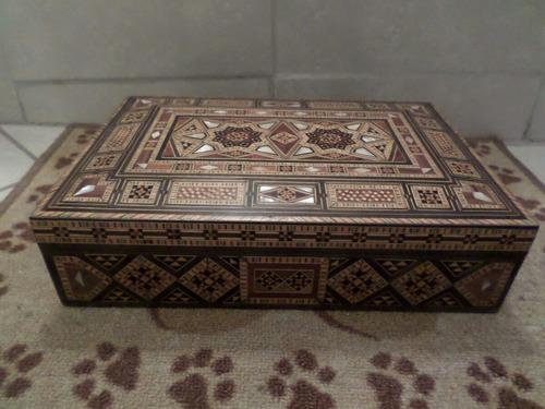 joyero marroqui en madera