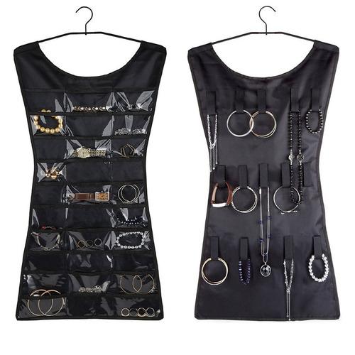 joyero organizador en forma de vestido negro - v0201