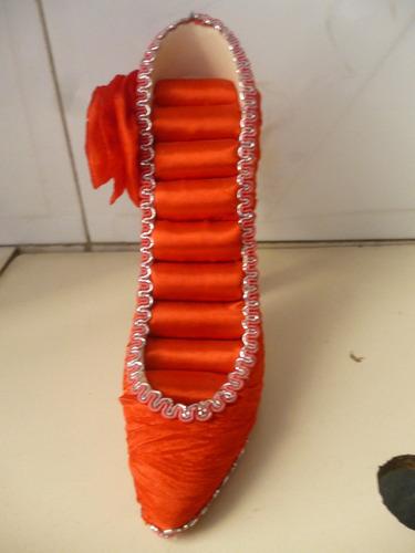 joyeros portanillos en forma de zapatilla