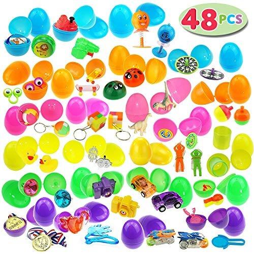 joyin 48 juguetes llena de huevos sorpresa, 2.5 pulgadas br